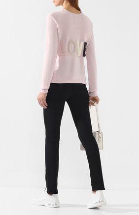 Женская пуловер из смеси шерсти и кашемира MAX&MOI розового цвета, арт. H19L0VER | Фото 2