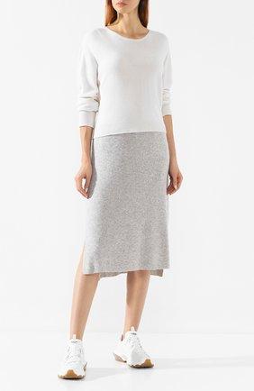 Женская юбка из смеси шерсти и кашемира MAX&MOI светло-серого цвета, арт. H19BETTINA | Фото 2