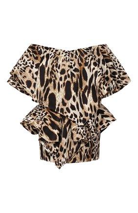 Женское шелковое платье ALEXANDRE VAUTHIER леопардового цвета, арт. 194DR1150 0194-1158 | Фото 1