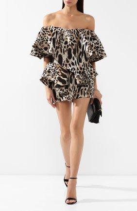 Женское шелковое платье ALEXANDRE VAUTHIER леопардового цвета, арт. 194DR1150 0194-1158 | Фото 2