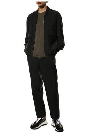 Мужские кожаные кроссовки PIERRE HARDY черного цвета, арт. QX02/CALF   Фото 2