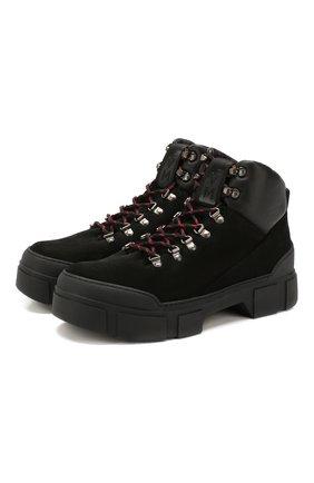 Мужские замшевые ботинки VIC MATIE черного цвета, арт. 1V7654U.V06TUDT001 | Фото 1
