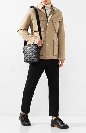 Мужская сумка ZEGNA COUTURE темно-серого цвета, арт. C1515X-LHREG | Фото 2