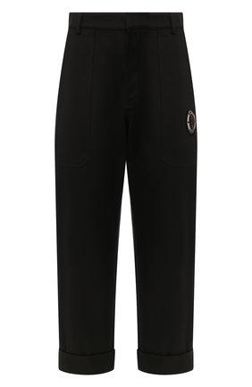 Мужской хлопковые брюки ALEXANDER MCQUEEN черного цвета, арт. 582879/QNS37 | Фото 1