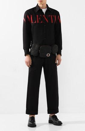 Мужской хлопковые брюки ALEXANDER MCQUEEN черного цвета, арт. 582879/QNS37 | Фото 2