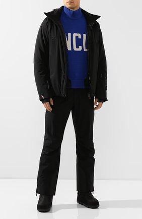 Мужской утепленные брюки MONCLER черного цвета, арт. E2-097-11438-30-53066 | Фото 2