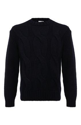 Мужской кашемировый свитер BRIONI темно-синего цвета, арт. UMQ90L/08K37 | Фото 1
