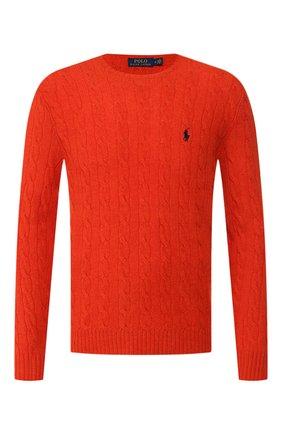 Мужской джемпер из смеси шерсти и кашемира POLO RALPH LAUREN оранжевого цвета, арт. 710719546 | Фото 1