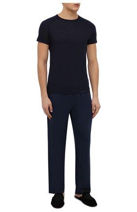 Мужские футболка из смеси шерсти и шелка FALKE синего цвета, арт. 33423 | Фото 2