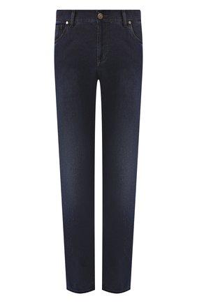 Мужские джинсы ANDREA CAMPAGNA синего цвета, арт. AC402/T114.W117 | Фото 1 (Материал внешний: Полиэстер, Хлопок, Деним; Статус проверки: Проверено; Длина (брюки, джинсы): Стандартные; Силуэт М (брюки): Прямые)