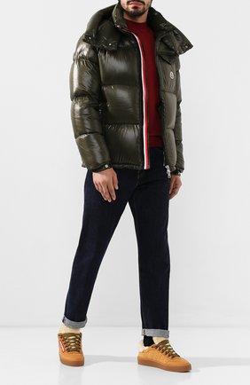 Мужская пуховая куртка montbeliard MONCLER хаки цвета, арт. E2-091-41803-05-68950 | Фото 2