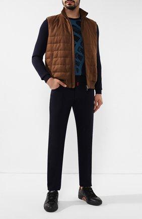 Мужские кожаные кеды tiziano ZEGNA COUTURE черного цвета, арт. A2975X-LHSWI | Фото 2