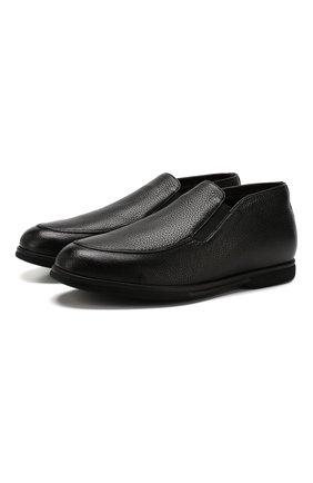 Мужские кожаные лоферы CANALI черного цвета, арт. 253210/RF00323 | Фото 1