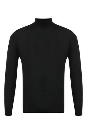 Мужской водолазка из смеси кашемира и шелка ZILLI черного цвета, арт. MBS-CH003-SP0R1/ML03 | Фото 1