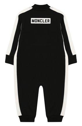 Детский хлопковый комбинезон MONCLER ENFANT черного цвета, арт. E2-951-85081-05-V8086 | Фото 2