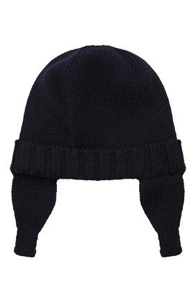 Детского шерстяная шапка MONCLER ENFANT синего цвета, арт. E2-951-99232-05-A9111 | Фото 2