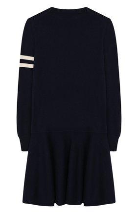 Детское платье из шерсти и хлопка POLO RALPH LAUREN темно-синего цвета, арт. 313751081 | Фото 2