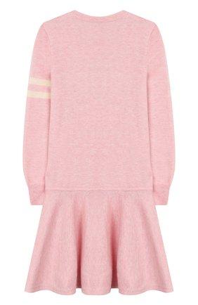 Детское платье из шерсти и хлопка POLO RALPH LAUREN розового цвета, арт. 312751081 | Фото 2