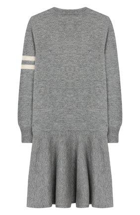 Детское платье из шерсти и хлопка POLO RALPH LAUREN серого цвета, арт. 312751081 | Фото 2
