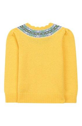 Детский пуловер из хлопка и шерсти POLO RALPH LAUREN желтого цвета, арт. 312751042 | Фото 2