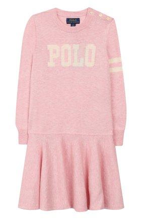 Детское платье из шерсти и хлопка POLO RALPH LAUREN розового цвета, арт. 311751081 | Фото 1