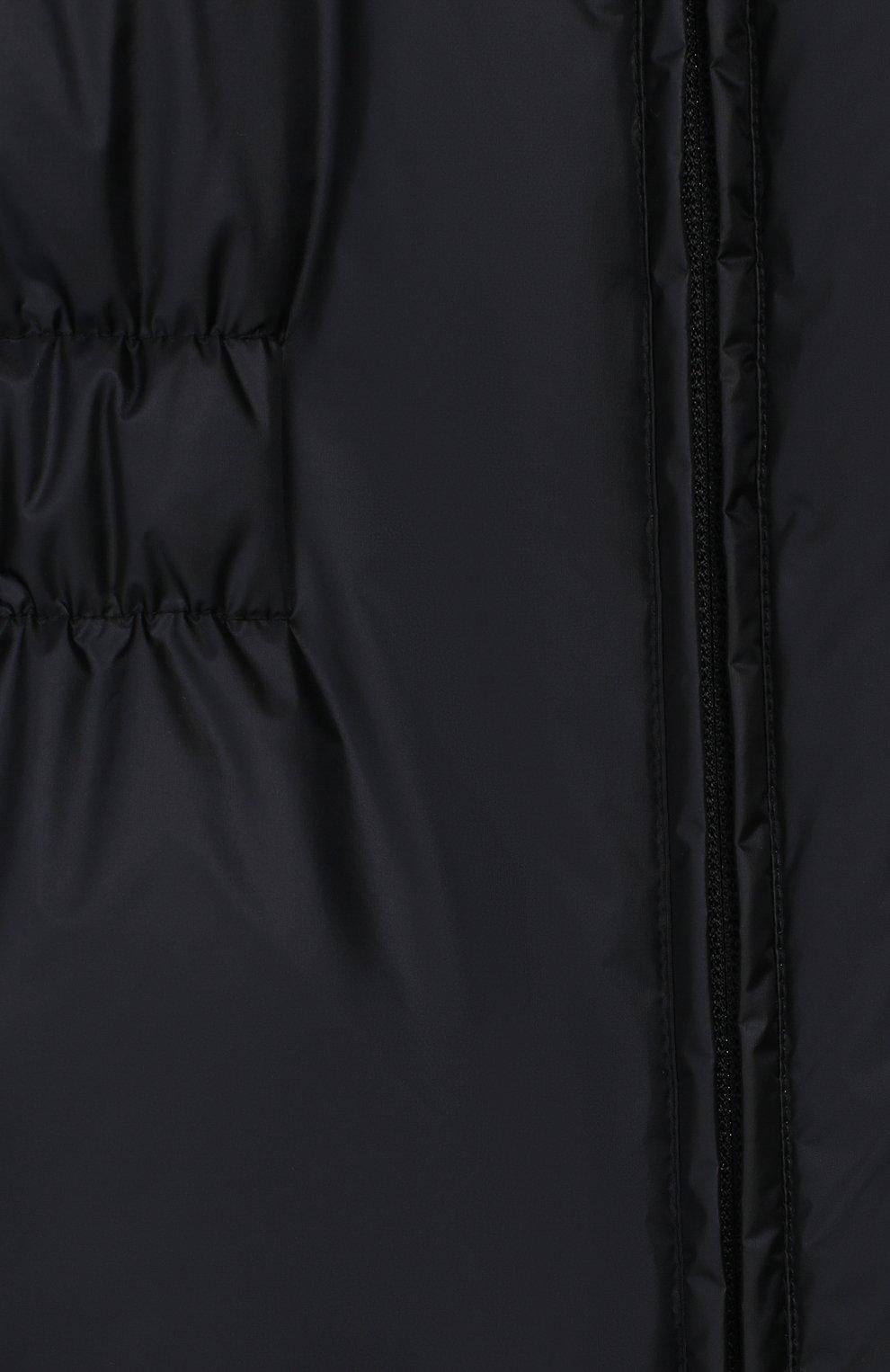 Детский пуховый комбинезон EMPORIO ARMANI темно-синего цвета, арт. 6G4P20/4NHHZ   Фото 3