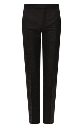 Мужской брюки из смеси шерсти и шелка BERLUTI черного цвета, арт. R15TTU33-005 | Фото 1