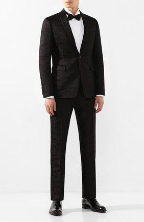 Мужской брюки из смеси шерсти и шелка BERLUTI черного цвета, арт. R15TTU33-005 | Фото 2