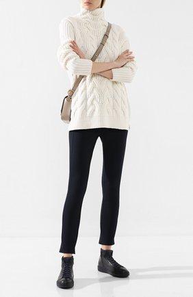 Женские кожаные кеды SANTONI темно-синего цвета, арт. WBCE605620CARSSEU55 | Фото 2