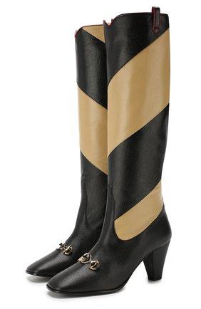 Кожаные сапоги Gucci Zumi | Фото №1