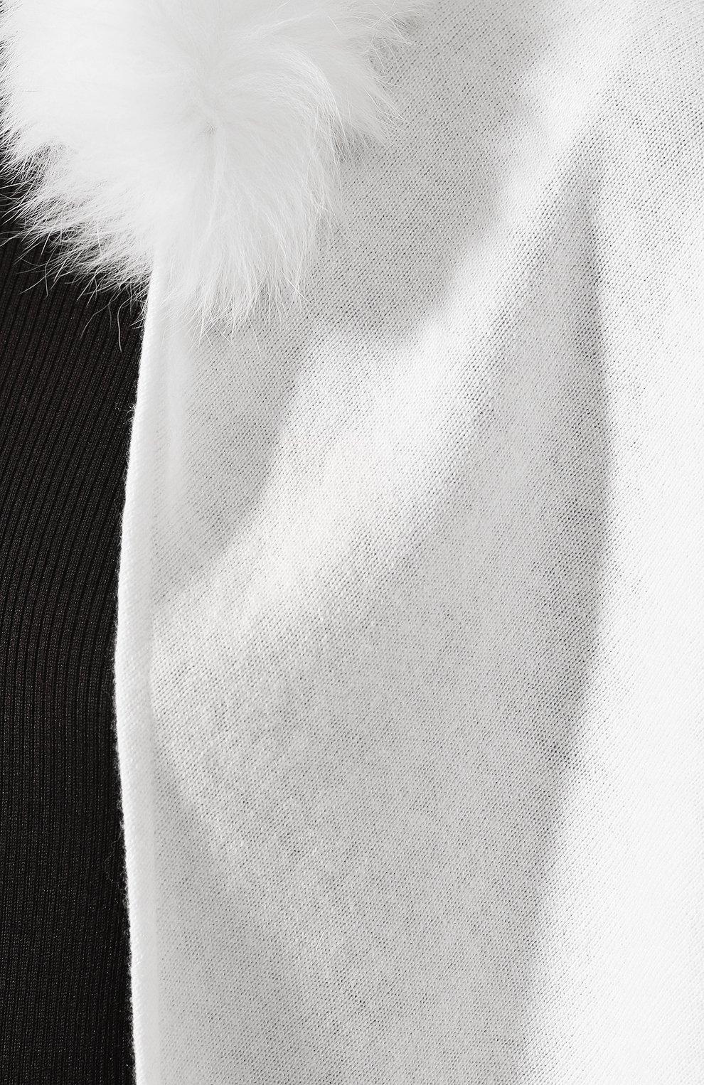 Шаль с мехом лисицы | Фото №5