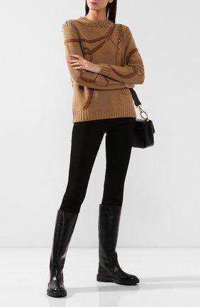 Женские кожаные сапоги CASADEI черного цвета, арт. 1S017N0211L0VEC9000 | Фото 2