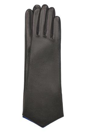 Женские кожаные перчатки AGNELLE темно-серого цвета, арт. LINDA/S | Фото 1