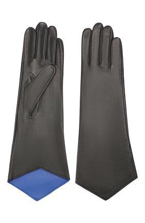 Женские кожаные перчатки AGNELLE темно-серого цвета, арт. LINDA/S | Фото 2