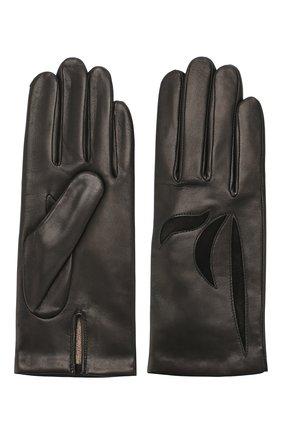 Женские кожаные перчатки AGNELLE черного цвета, арт. MAY/C100 | Фото 2