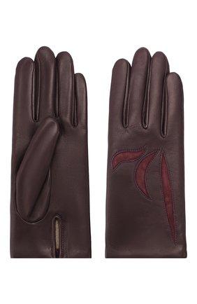 Женские кожаные перчатки AGNELLE фиолетового цвета, арт. MAY/C100 | Фото 2