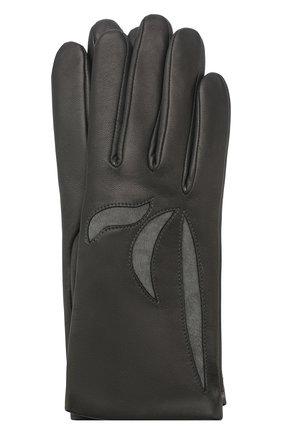 Женские кожаные перчатки AGNELLE темно-серого цвета, арт. MAY/C100 | Фото 1