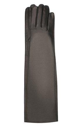 Женские кожаные перчатки AGNELLE черного цвета, арт. MESSAGE/S | Фото 1