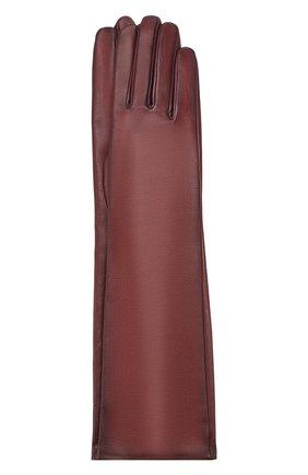 Женские кожаные перчатки AGNELLE коричневого цвета, арт. MESSAGE/S | Фото 1