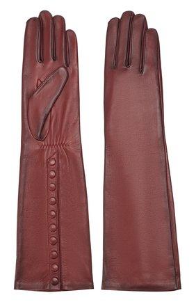 Женские кожаные перчатки AGNELLE коричневого цвета, арт. MESSAGE/S | Фото 2