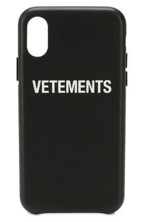 Мужской чехол для iphone x/xs VETEMENTS черного цвета, арт. UAH20AC901/M/IPH0NE XS | Фото 1