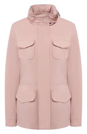 Женская куртка с капюшоном LORO PIANA розового цвета, арт. FAF8482   Фото 1