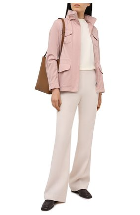 Женская куртка с капюшоном LORO PIANA розового цвета, арт. FAF8482   Фото 2