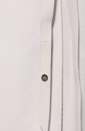 Женская кашемировая накидка LORO PIANA бежевого цвета, арт. FAG3754 | Фото 5