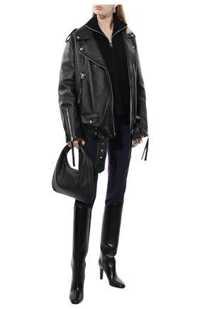 Женские шерстяные брюки CHLOÉ темно-синего цвета, арт. CHC19APA03062 | Фото 2