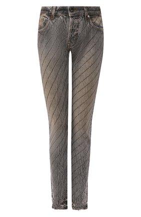Женские джинсы FILLES A PAPA серого цвета, арт. CLARK CRYSTAL L.32 DENIM | Фото 1