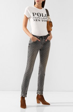 Женские джинсы FILLES A PAPA серого цвета, арт. CLARK CRYSTAL L.32 DENIM | Фото 2