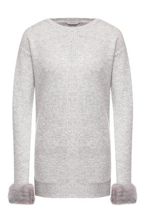 Женский пуловер из смеси шерсти и кашемира MAX&MOI светло-серого цвета, арт. H19BLANC0 | Фото 1