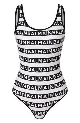 Женский слитный купальник BALMAIN черно-белого цвета, арт. BPBU00010 | Фото 1