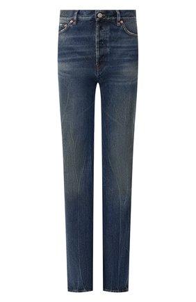 Женские джинсы BALENCIAGA синего цвета, арт. 594390/TCW03   Фото 1